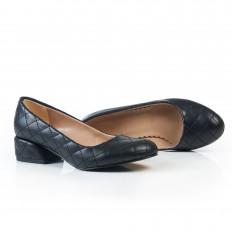 Siyah Kapitone Kadın Ayakkabı 7071