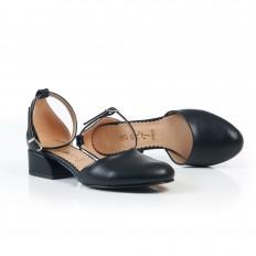 Bilekten Bağlı Siyah Babet Ayakkabı 7042