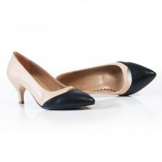 Ten Siyah İnce Topuklu Klasik Bayan Ayakkabı 9012