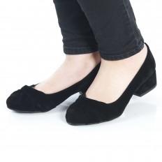 Siyah Süet Kadın Ayakkabı 7072