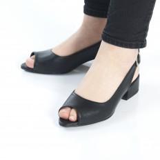 Siyah Bayan Babet Ayakkabı 4052
