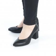 Kalın Topuk Siyah Stiletto 9920