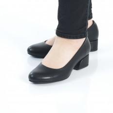 Yuvarlak Burunlu Siyah Kadın Ayakkabı 7070