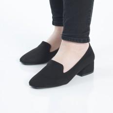 Siyah s-Süet Bayan Babet Ayakkabı 7010