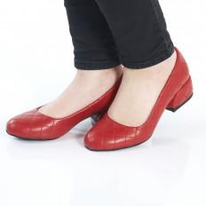 Kırmızı Kapitone Kadın Ayakkabı 7071