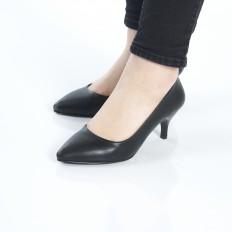 Siyah İnce Topuklu Klasik Bayan Ayakkabı