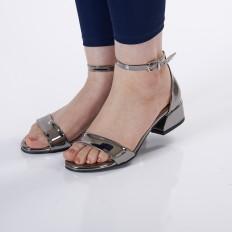 Platin Ayna Kadın Sandalet 5055
