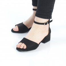 Siyah Süet Sandalet 5060