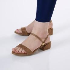 Camel Süet Kadın  Sandalet 5030